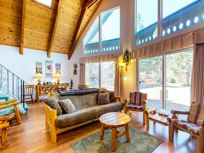 Photo for Dog-friendly lakehouse w/sun room, fenced-in backyard! Minutes from Lake Tahoe!