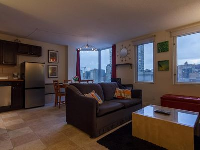 Photo for Cozy Studio with Nice Views of Downtown Montreal,Steps from ALL Amenities&Events