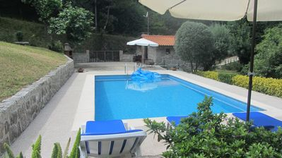 Photo for Rustic House T1 + 1 with garden and private pool - Geres