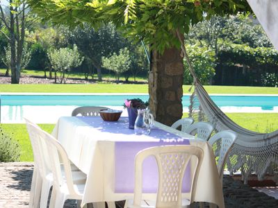 Photo for Fantastic holiday villa with pool, near the course and the beach.