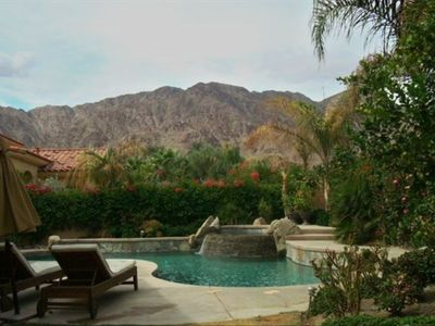 Mountian views from the pool