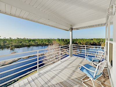 Photo for 3rd-Floor Corner Unit on the Lake - Pool, Gazebo Pier & Private Beach Access