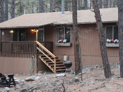 Photo for New! Cozy, Updated 3 Bedroom Cabin in the Tall Pines!