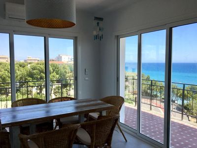 Photo for Fantastic beachfront apartment in Miami Platja for 6 people with sea views and FREE WIFI