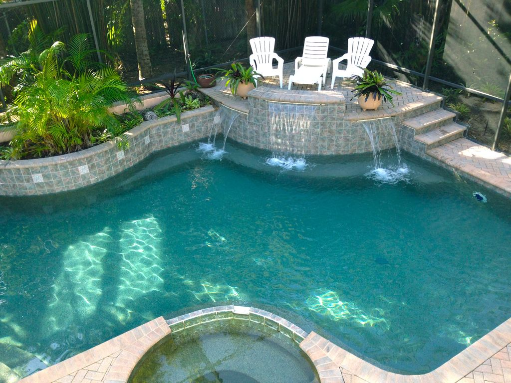 property image3 big siesta key rental home with caged heated inground saltwater pool and - Saltwater Hot Tub