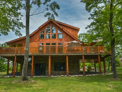 Photo for Exceptional 5 Bedroom Log Home with Luxury Accomodations!