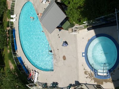 pool view from our deck