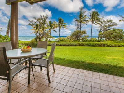 Kaha Lani Resort #123 Oceanfront, Walk to Beach, Sunrise Views, Washer/Dryer