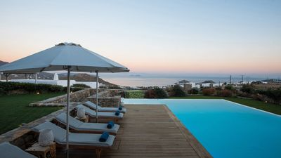 Photo for EXPERIENCE LIFETIME HAPPINESS. Mykonos Heaven Villa Riana 5br upro 12guests Private Pool