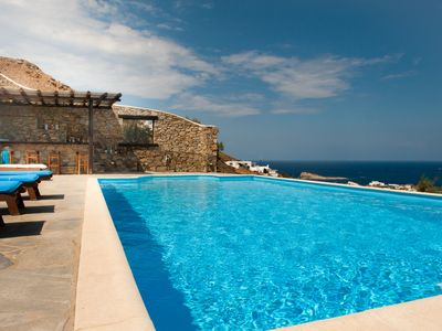 Photo for Amazing 5-Bedroom Villa with Private Pool, Pool Bar & View to Infinite Blue