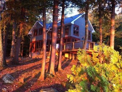 Photo for Very Private 7 Bedroom Executive Retreat On 5 Acres Of Muskoka Forest
