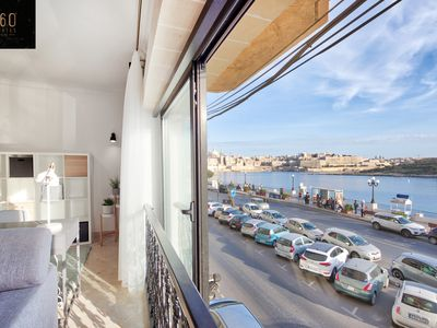 Photo for Exclusive seafront 3B apartment at Sliema ferries