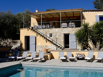 Photo for Large pool / Gorgeous view / Romantic village / Close to the sea