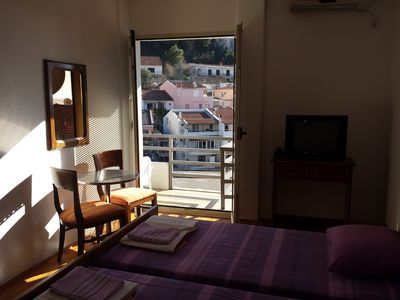 Photo for Double room with sea view balcony at thw city center, just 200 m from the beach
