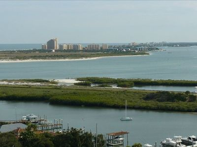 View of Minorca & Ponce Inlet from the lighthouse at the light house museum.