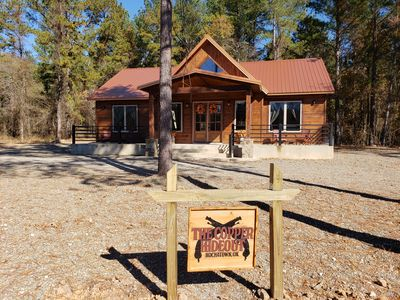 Photo for Brand New! Copper Hideout Luxury Cabin! 2 Br; 2 Bth; Hot Tub; Fire Pit; Wifi