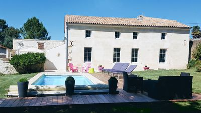 Photo for Charming, 4-star renovated gite in beautiful Saintonge with pool