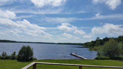 View of Comstock Lake from deck
