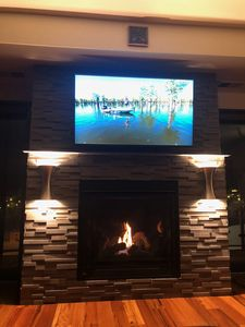 Cozy up to the fire and watch some free Netfix and Hulu.