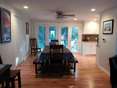 Dining Room with French Doors to Deck/Backyard