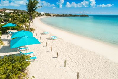 Sapodilla Bay Beach with its sugary white sand and crystal clear water!