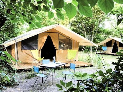 Photo for Camping Huttopia Lac de Sillé *** - Classic Tent 3 Rooms 4 People
