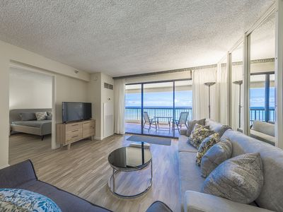 Photo for Newly Renovated Waikiki Beach Tower Condo w/ Breathtaking Ocean View !