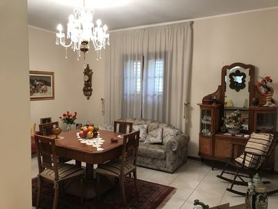 Fausto's house is an apartment on the first floor of a two-storey building   - Cesarò