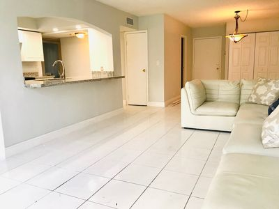 Photo for Bright and Beautiful 2 bedroom apartment on the intracoastal! Walk to the beach!