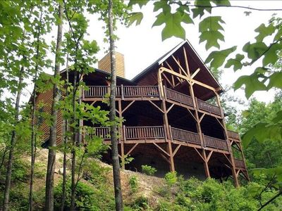 Photo for Luxurious Mountain Lodge in Gated Preserve, Black Mountain, NC
