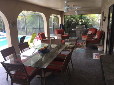 Photo for CANAL HOME!  WARM PRIVATE POOL! FAMILY MEMORIES!  WIFI!  GRILL!  BABY SUPPLIES!