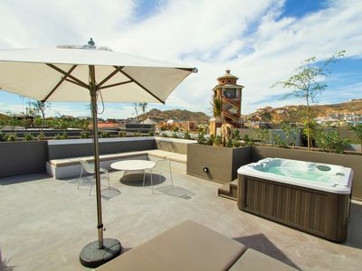 Photo for Luxury 1BR Residence, Private Roof-top & Jacuzzi, Steps from Marina Cabo