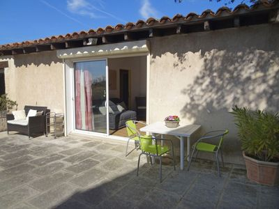 Photo for Cosy apartment for 3 guests with private pool, WIFI, A/C, TV and parking
