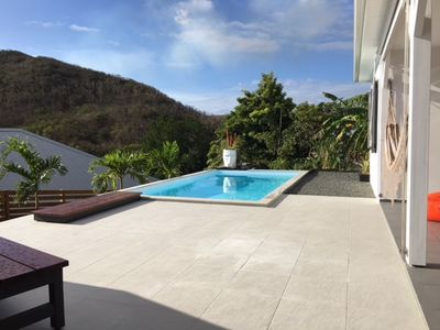 Photo for OFFER 3 - 27 JUNE! 3 BEDROOMS COCO CANNELLE VILLA, PRIVATE POOL IN  DESHAIES