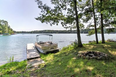 This 2,000-square-foot home is situated on Long Lake. (Pontoon not for guests)
