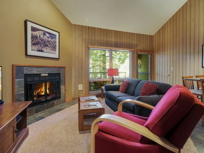 Photo for Location and Privacy in This Upper-Level Condo with Mt. Bachelor Village Ameniti