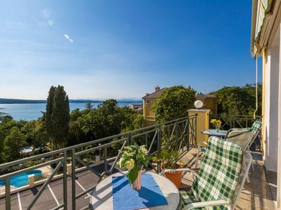 Photo for Apartment with sea view, sandy beach, air conditioning