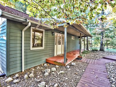 Photo for Lakefront Cabin on Beaver Lake - Charming, Rustic, Secluded Get-a-way awaits!!!