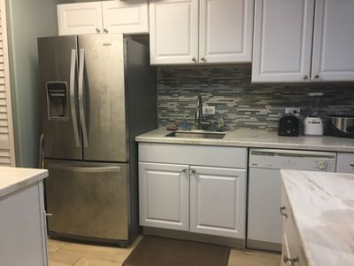 Refrigerator, sink, dishwasher