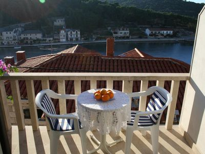 Photo for Studio flat with terrace and sea view Povlja, Brač (AS-2955-a)
