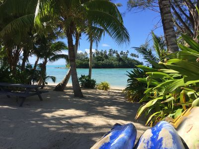 Photo for Great Value for $ on Muri Beach with Pool and Kayaks on the Muri 'golden mile' !