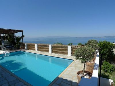 Photo for Villa With Private Pool And Panoramic Views Over The Aegean Sea. Fully Equipped