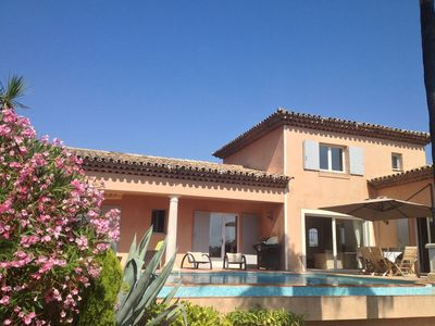 Photo for Sainte-Maxime: spacious high-quality villa with sea views and heated pool (28°C)