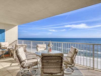 Photo for Oversize beachfront condo w/ Gulf view, shared pools & hot tub!