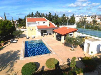 Photo for Large villa in Paphos center with TENNIS COURT
