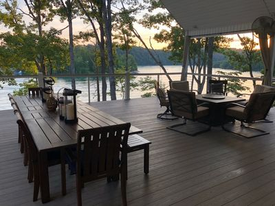 New Beautiful Spacious Lakefront Home, with Gigantic Decks!  Two Boat slips.