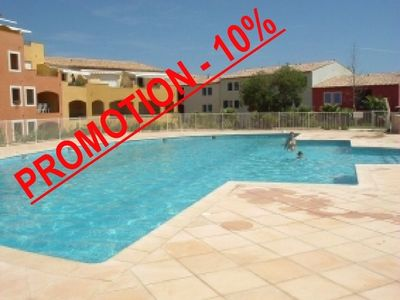 Photo for Air conditioned apartment for 6 persons in a residence with swimming pool at 700 meters of the beach