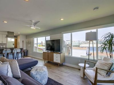 Photo for Modern Beach House with Rooftop Deck, Ocean & Bay Views, 4BR AC, 2 Parking spots