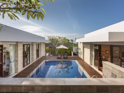 Photo for a contemporary style and modern facilities. Maximizing its space, the villa was