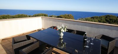 Photo for Sea View Villa next to the beach, 5 Minutes Walking To Cala D'or Center